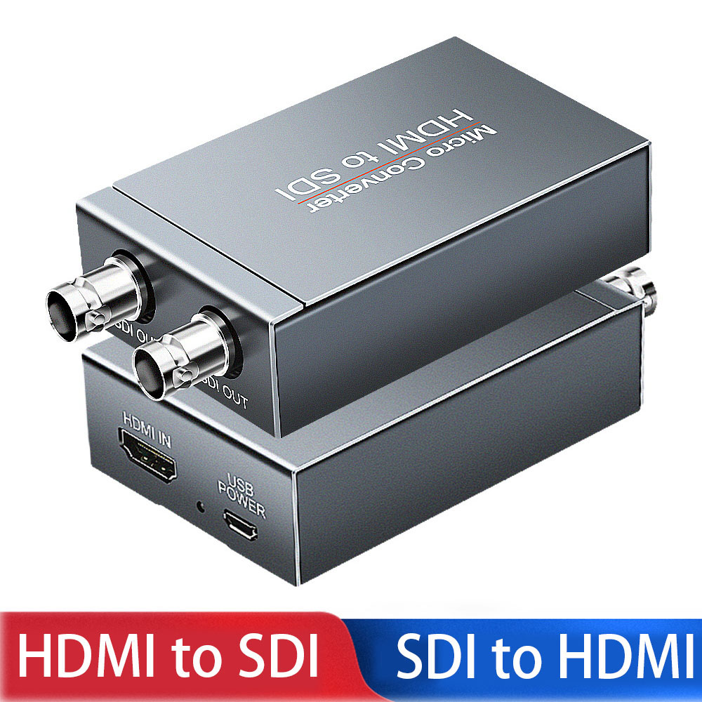 Mini <font><b>HD</b></font> 3G <font><b>SDI</b></font> to HDMI Converter HDMI to <font><b>SDI</b></font>*2 Adapter 3G Display 1080p with usb power HDMI <font><b>Switcher</b></font> to <font><b>SDI</b></font> for PS3/4 Smart box image