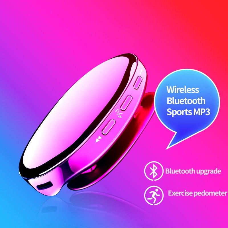 Reproductor de música MP3 Bluetooth 4,2 reproductor deportivo Radio FM podómetro música sin pérdidas de alta fidelidad, Mini reproductor de música i3 reproductor de MP3 portátil
