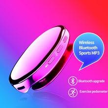 Leitor de música mp3 bluetooth 4.2 leitor de esportes rádio fm pedômetro hi-fi música sem perdas, mini leitor de música i3 leitor de mp3 portátil