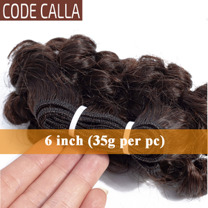 Image 4 - Code Calla Bouncy Curly Hair Weave Bundles Double Draw Brazilian Remy Human Hair Extensions Natural Dark Brown Color Short Curly
