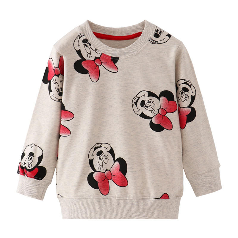 Jumping Meters Baby Cotton Sweatshirts Autumn Winter Cartoon Girls Clothing Fashion New 2019 Kids Girls Tops Streetwear Shirts title=