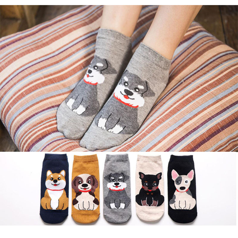 ÌBest DealBoat Socks Slippers Short Animal Ankle Invisible MYORED Cotton Women Cartoon Kawaii Cuteâ