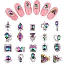 100 шт Разноцветные кристаллы для дизайна ногтей