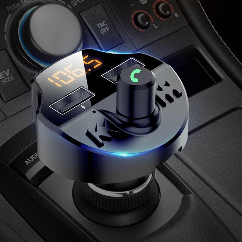 Автомобильный аксессуар, беспроводной Bluetooth fm-передатчик, MP3 радио адаптер, автомобильное быстрое USB зарядное устройство, украшение, Прямая ...
