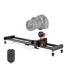 Andoer Camera Video Dolly Slider Kit with 3 wheel Auto Dolly Car + 60cm Track Rail Camera Slider for DSLR Camera Camcorder