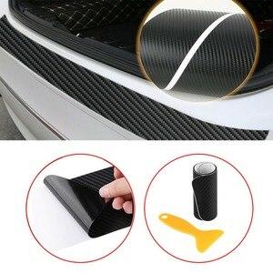 Image 3 - Balight 1x คาร์บอนไฟเบอร์รถกันชนด้านหลังมุมสติกเกอร์ Trim อุปกรณ์เสริมสีดำ