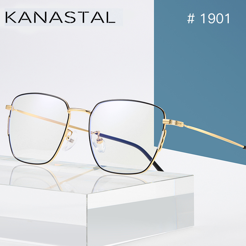 KANASTAL Anti Blue Rays Computer Glasses For Women Glasses Men Anti Rays Radiation Eyewear Frames Metal Unisex Blue rays glasses-in Women's Blue Light Blocking Glasses from Apparel Accessories