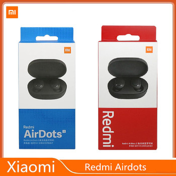 Oryginalny Xiaomi Redmi Airdots S TWS Bluetooth 5 0 słuchawki Redmi Airdots S TWS Stereo Bass słuchawki redukcja szumów AI Control tanie i dobre opinie douszne Dynamiczny CN (pochodzenie) Prawdziwie bezprzewodowe Do kafejki internetowej Słuchawki do monitora Do gier wideo