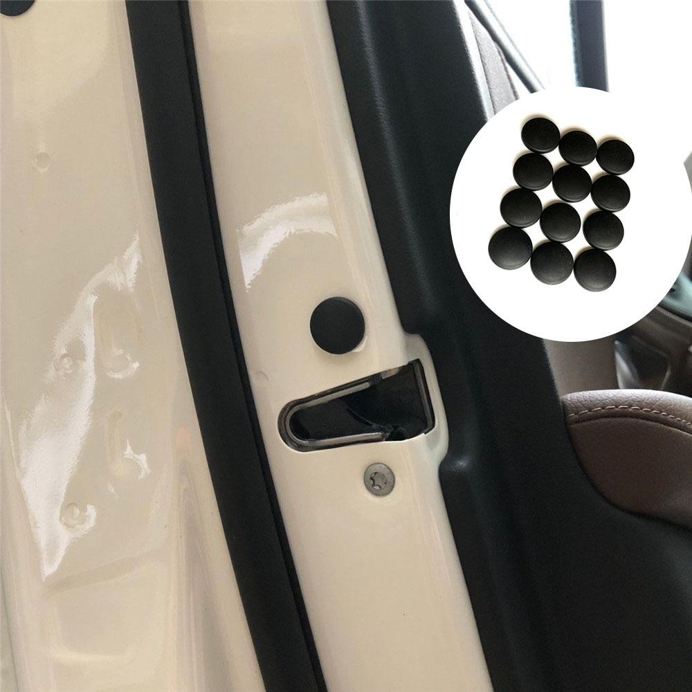 For Tesla  Model 3 S X Car Door Lock Screw Stickers 12pcs ABS Plastic Door Screw Protection Cover For Tesla Accessories