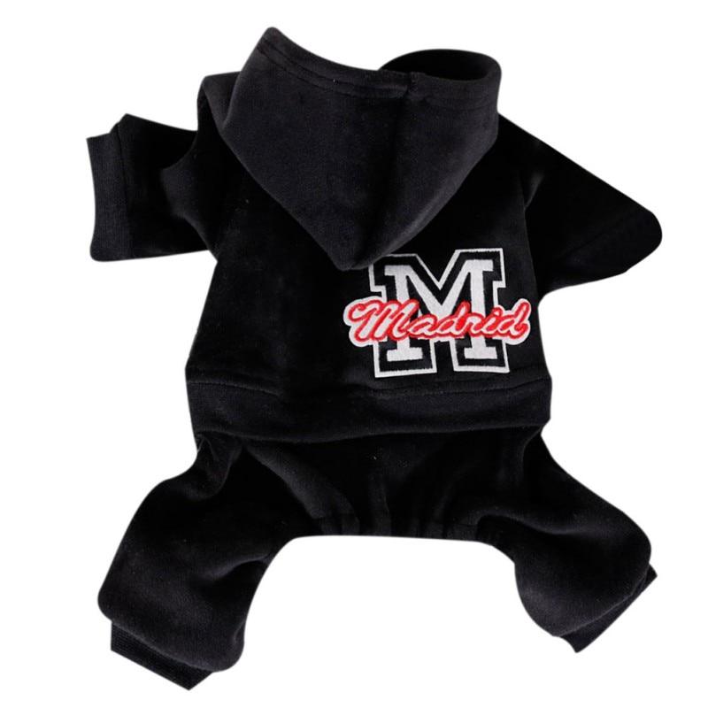 Pet зимние толстовки с капюшоном плотная верхняя одежда с добавлением бархата 4-клёш Одежда Щенок на холодную погоду, теплая одежда для собак Ropa Чихуахуа Одежда - Цвет: B