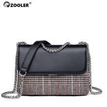 ZOOLER BRAND quality Genuine Leather bag bags Handbags women Shoulder bags cowhide patchwork women messenger bag 2017 new#6986 стоимость