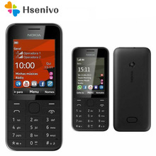Nokia-teléfono móvil 208 Original renovado, tarjeta sim, 2G/3G, GSM, 1,3 MP, 208, 0mAh, barato, con hebreo, 105