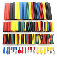 328pcs Crimp Terminal Connectors With Box Heat Shrink Tube Tubing Cable Sleeve Sleeving Kits Assorted Wire Connector