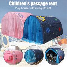 Łóżko dla dzieci namiot zabawkowy domek składany Kid Dream zadaszenia moskitiera kryty H88F tanie tanio Bi-rozstanie Uniwersalny circular Domu 362015486 Mongolski jurta moskitiera Składane 100 poliester