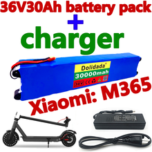 36V30Ah Scooter Battery Pack for Xiaomi Mijia M365 36V30000mAh Battery pack Electric Scooter BMS Board for Xiaomi M365+Charger