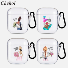 Cases-Covers Headphone-Case Apple Airpods Silicone-Protection Bluetooth Wireless Girl