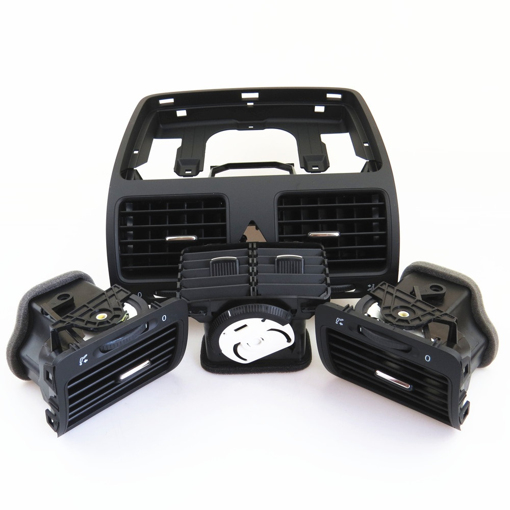Fhawkeyeq centro do carro ar condicionado saída de ventilação bico conjunto para vw jetta mk5 golf mk5 coelho 1kd 819 728 1kd 819 203 1kd 819 704