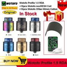 Buồng Đốt Wotofo Hồ Sơ 1.5 RDA Vape Xe Tăng Đầu Đốt Vape Xây Dựng Lại RDA Atomizer Với 510 Pin 0.13/0.16/0.15ohm A1 Nexmesh cuộn Dây VS Hồ Sơ RDA