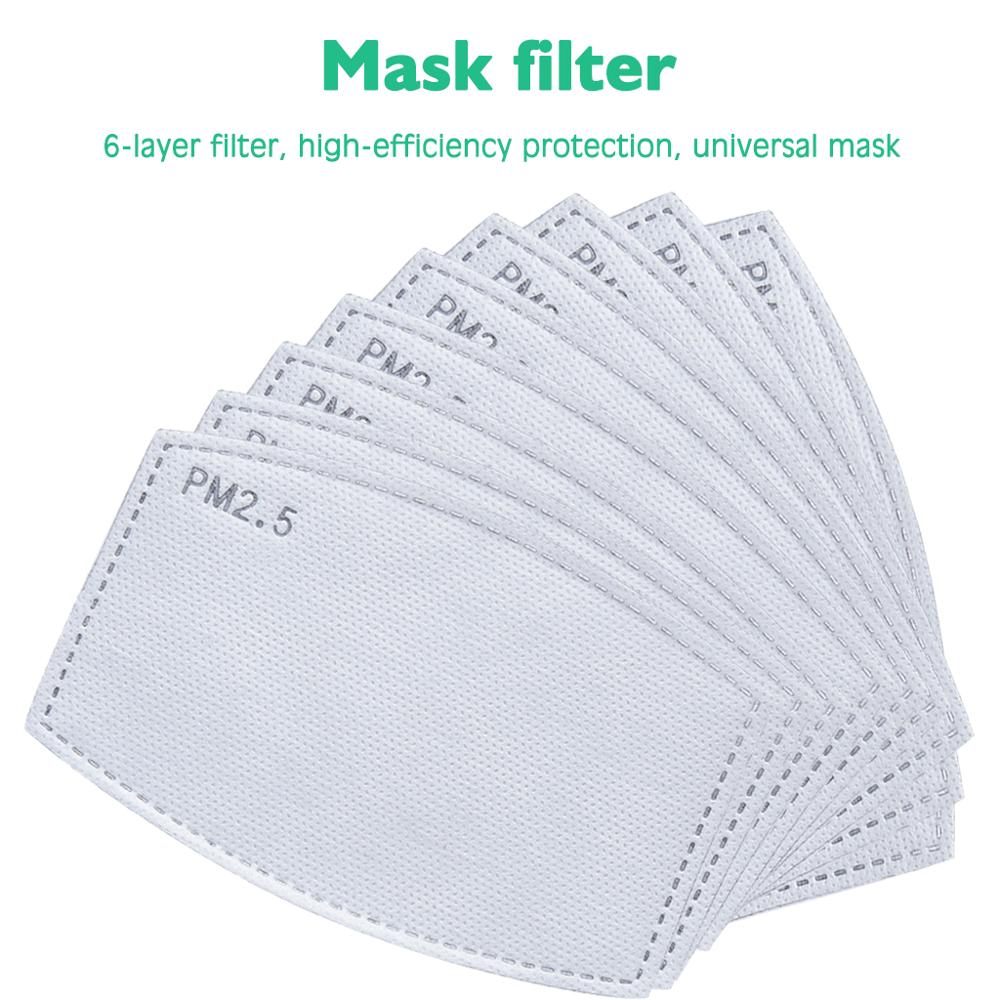 Hot Sale PM2.5 Filter Paper Anti Haze Mouth  Anti Dust Mask Activated Carbon Filter Paper Health Care