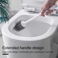 Toilet Brush Rubber Head Holder Cleaning Brush For Toilet Wall Hanging Household Floor Cleaning Bathroom Accessories|Cleaning Brushes| |  -