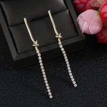 ELEGANCe11 Luxury Tassel Earrings Rhinestone Chain Long Earrings for Party Christmas Jewelry for Female Gift rhinestone long chain earrings