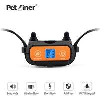Petrainer PET856 Wasserdichte Anti Bellen Hund Elektrische Ausbildung Schock Kragen mit Schock/Vibration/Ton