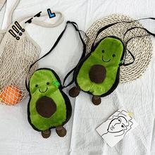 2020 tiktok śmieszne torby messenger torby dla kobiet śliczne brzydkie piękne awokado dziewczyna serce lalki torby na ramię dla ucznia pluszowa torba tanie tanie tanio Tonny kizz Koperta Wristlets Other zipper SOFT Ił kieszeń Moda green Poliester Wszechstronny WOMEN Gwint Pojedyncze Brak Kieszeni