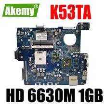 Placa-mãe de laptop QBL60 LA-7552P para placa principal Asus K53TA K53TK X53T K53T HD 6630M 1 GB