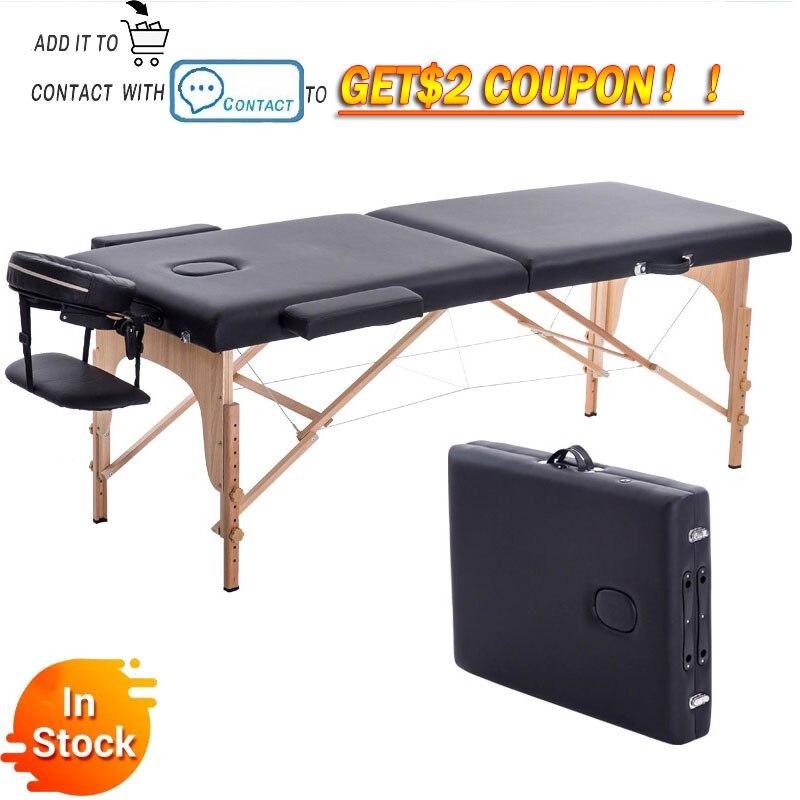 Массажный стол Складная кровать для массажа, массажная кровать для салона красоты, для дома, кровать для тату-салонов 180cm длина 60cm ширина под...