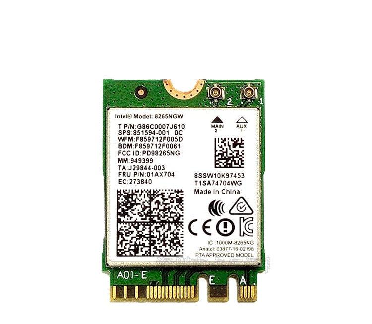 Intel Dual Band Wireless-AC 8265 8265NGW NGFF 867Mbps WiFi  Bluetooth4.2 802.11ac Card For Lenovo X270 T470 T570 E470 01ax704