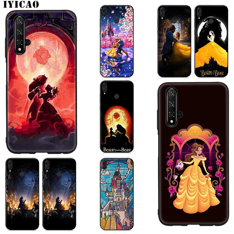 IYICAO Beauty and the Beast Soft Case for Huawei Honor 20 10 9 9X 8X 8C 7X 7C 7A 6A Lite Pro View 20 Note 10 Silicone