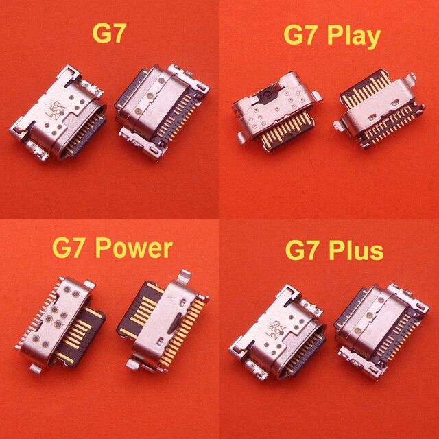50 adet USB şarj portu konnektörü fişi soket Dock onarım bölümü Motorola MOTO G7/G7 artı/G7 güç/G7 oyun