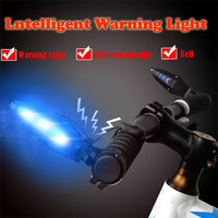 USB Rechargeable Cycling Bicycle MTB Handlebar Grip Bar End With LED Light Warni for bicycle accessories cycle bycicle light #gh