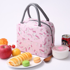 2020 Insulated Lunch Bag Thermal Stripe Tote Bags Cooler Picnic Food Lunch Box Bag For Kids Women Girls Ladies Men Children Pink