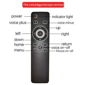 Image 3 - Smart Voice Control GyroAir Mouse  IR Learning 2.4G Wireless Fly Remote Control for TD90s X96 Mini H96 MAX TV Box