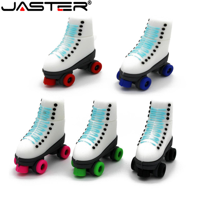 JASTER Ice Skates Pen Drive USB Flash Drives Genuine Pendrive 4GB 16GB 32GB 64GB Roller Skates Shoes USB Flash Disk Memory Stick