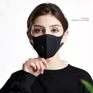 Image 2 - 2Pcs BYEPAIN נשימה מסכת גרסה משודרגת גברים נשים Pm2.5 אבקת 3D קצוץ לנשימה שסתום פה מסכה