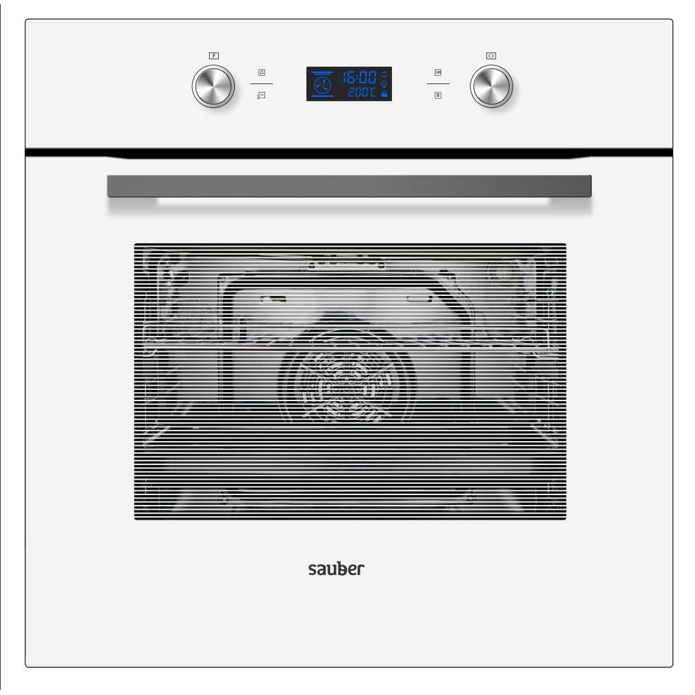 Oven Sauber Shmp01W Pirolitico Multifunction White