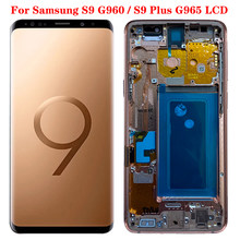 Super amoled S9 SM-G960F LCD For Samsung Galaxy S9 Plus Display With Frame For S9 Plus G965F LCD Display Touch Screen Assembly