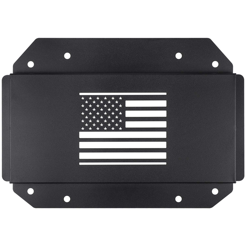 US Flag Style Tailgate Vent Cover Spare Tire Carrier Delete Filler Plate Cover Tramp Stamp for 2018 /& 2019 Jeep Wrangler JL Only