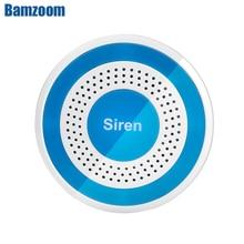 433mhz اللاسلكية الصوت والضوء صفارة الإنذار 100dB ستروب صفارات الإنذار ل PG103 106 107 W2B W3B W4B أمن الوطن WIFI GSM لوحة زر الإنذار النظام