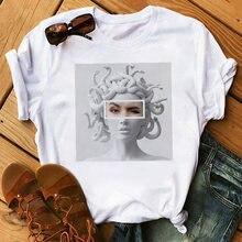 Женские рубашки летняя модная повседневная футболка с круглым