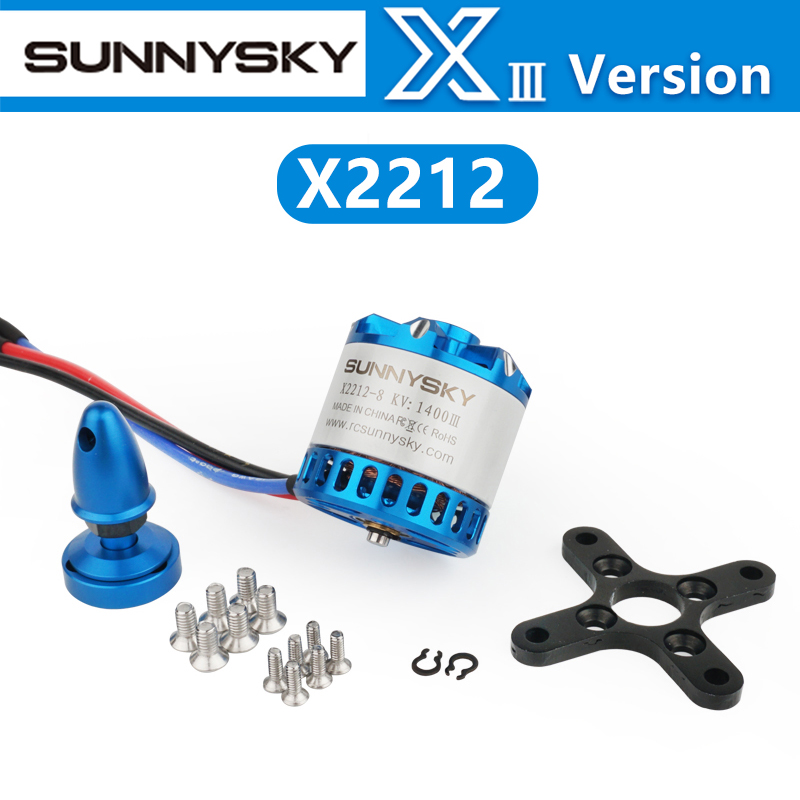 SUNNYSKY X2212-III 2212 980KV <font><b>1250KV</b></font> 1400KV 3-4S <font><b>Brushless</b></font> <font><b>Motor</b></font> For FPV RC Racing Drone Airplanes Fixed Wing Plane Short Shaft image