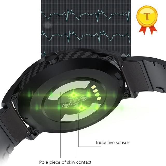 """2019 עמיד למים שחייה חכם שעון אק""""ג ppg קצב לב לחץ דם חמצן Smartwatch כושר Tracker צמיד צמיד גבר"""