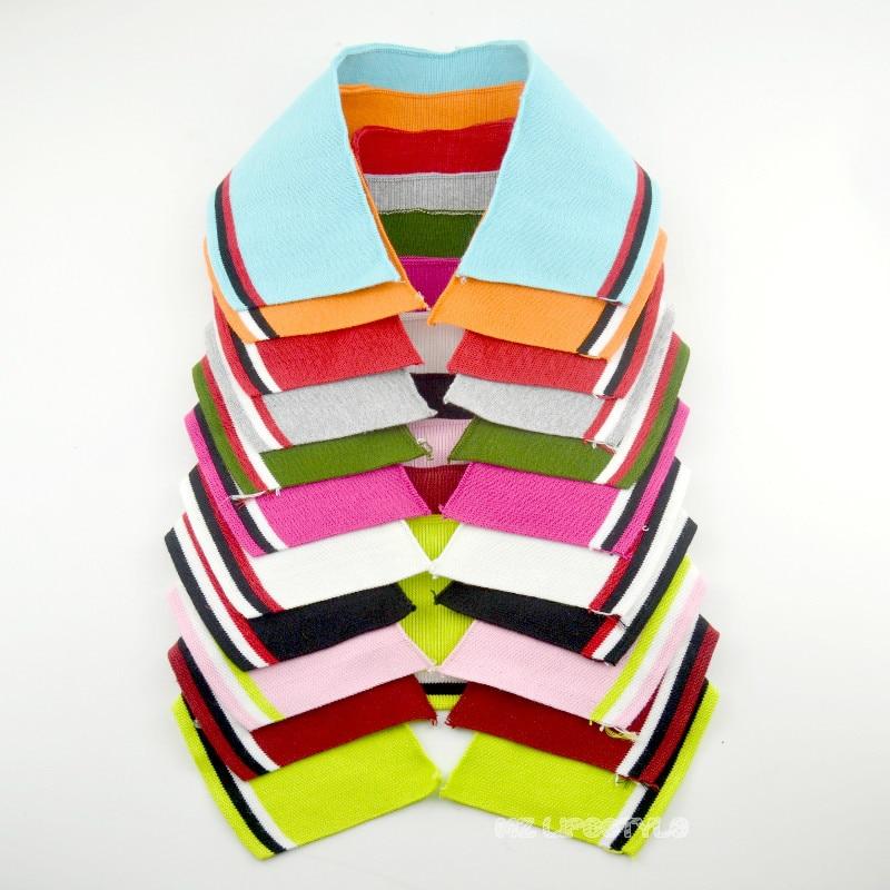 Knitted Rib Collar For Neckline Garment Accessories Thin Rib Collar Multicolor