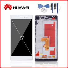 Original For HUAWEI Ascend P7 LCD Display Touch Screen Digitizer For Huawei P7 Display with Frame Replacement P7-L00 P7-L05 -L10 parasound p7 black