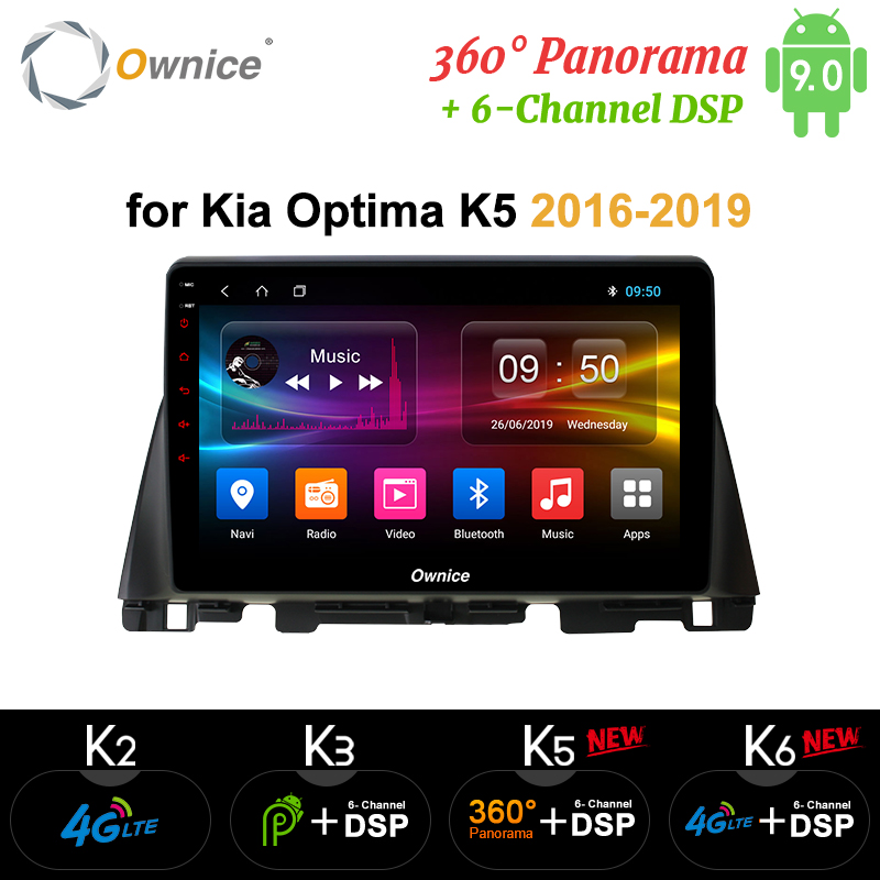 Ownice Octa Core <font><b>10.1</b></font> Android 9.0 K3 K5 K6 Car Radio DVD Player for Kia K5 Optima 2011 2015 2016 2017 2016 DSP 4G LTE SPDIF <font><b>360</b></font> image