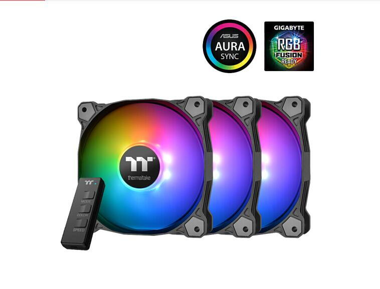 Thermaltake Pure 12 ARGB Sync Chassis Water Cooling Fan Radiator (12cm/16.8 Million Colors/light Synchronization)