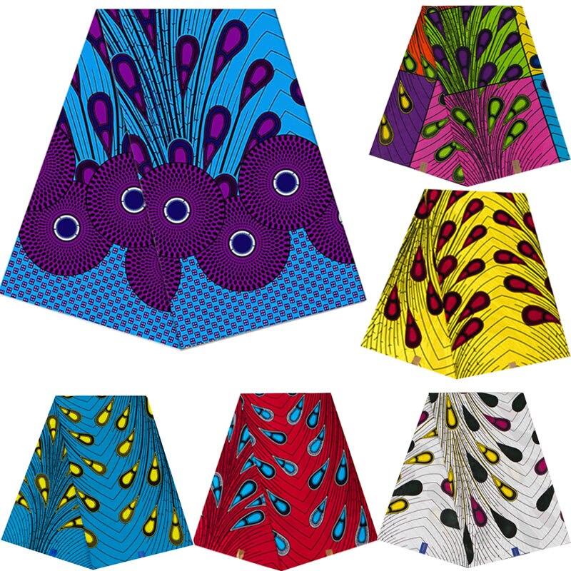 100% хлопок Анкара Африканский батик с принтами ткань реальные Pagne JAVA Воск мода лоскутное шитье Материал для вечерние платье 6 ярдов/Lot