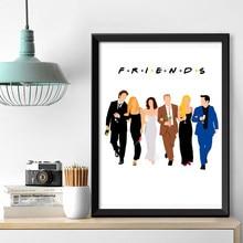 Klasik arkadaşlar TV dizisi film sanat tuval posterler baskı boyama Modern duvar sanatı resimleri için oturma odası yatak odası ev dekor